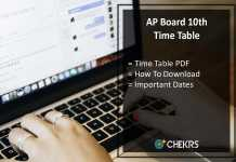 AP SSC Time Table- BSEAP Board 10th Class Exam Date Sheet