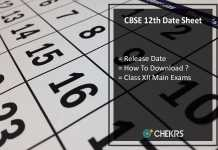 CBSE 12th Time Table, CBSE 12th Class Exam Date Sheet