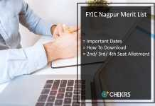 FYJC Merit List - Nagpur 2nd-3rd-4th Cut Off, Online Admission List To Be Released