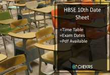 HBSE 10th Date Sheet- Haryana Bhiwani Board 10th Time Table