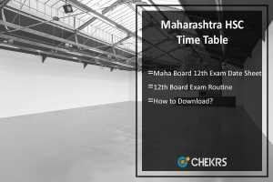 Maharashtra HSC Time Table- Maha Board 12th Exam Date Sheet