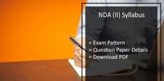 NDA 2 Exam Syllabus 2017 Download- upsc.gov.in NA Exam Pattern