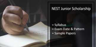 NEST Junior Scholarship - Syllabus, Exam Dates, Pattern, Sample Papers Available Here