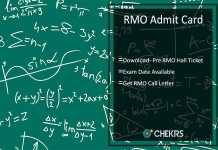 RMO Admit Card Download- Pre RMO Hall Ticket, Exam Date Available
