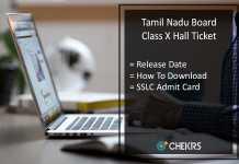 TN Board SSLC Hall Ticket, Tamilnadu 10th Admit Card Release Date