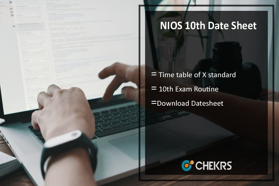 NIOS 10th Class Date Sheet October- Secondary Exam Timetable