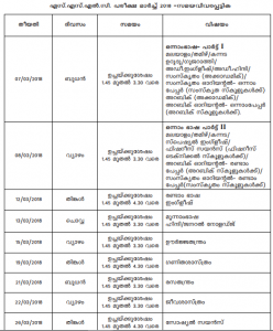 sslc study schedule Kerala sslc time table 2018, date sheet subject looking forward to the examination schedule of kerala 2018 for sslc stay on what you are doing and re-schedule your study pattern after the release of date sheet for sslc 2018 by kerala board.