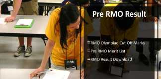 Pre RMO Result- PRMO Cut Off Marks, Merit List Date