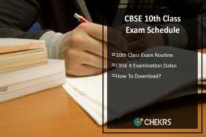 CBSE 10th Exam Schedule- cbse.nic.in Exam Date, Routine