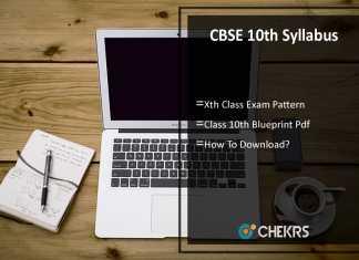 CBSE 10th Syllabus- Xth Exam Pattern, Blueprint Download