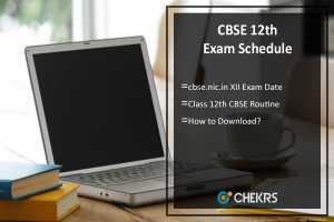 CBSE 12th Exam Schedule- cbse.nic.in XII Exam Date, Routine