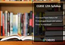 CGBSE 12th Syllabus- CG Board Exam Pattern Download