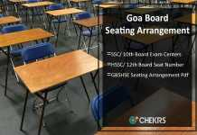 Goa Board SSC/ HSSC Seating Arrangement- Seat Number/ Centers