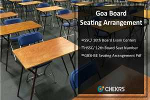 Goa Board SSC/ HSSC Seating Arrangement- Seat Number/ Centers