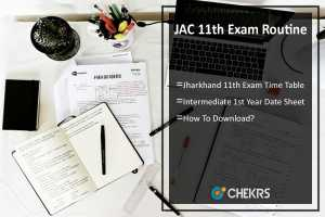 JAC 11th Exam Routine- Jharkhand 11th Exam Time Table