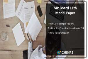 MP Board 11th 9th Model Papers 2019 - 2020 - Sample