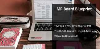 MP Board Blueprint- MPBSE 12th, 11th, 10th, 9th Blueprint