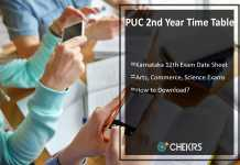 PUC 2nd Year Time Table- Karnataka 12th Arts, Commerce, Science