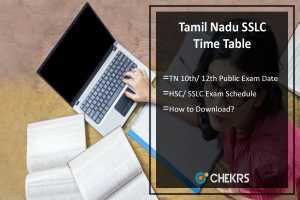 Tamil Nadu SSLC/ 10th, HSC/ 12th Public Exam Time Table