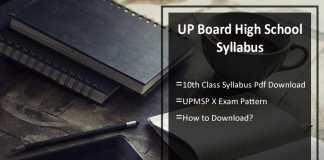 UP Board High School Syllabus & Exam Pattern