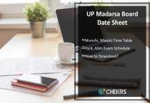 UP Madarsa Board Date Sheet- Munshi, Maulvi, Fazil, Alim