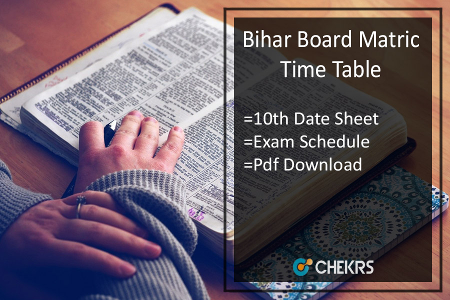 BSEB Matric Exam Routine - Bihar Board 10th Date/ Schedule
