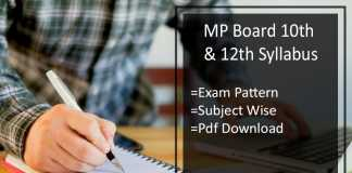 MP Board 10th & 12th Syllabus, MPBSE Exam Pattern Download
