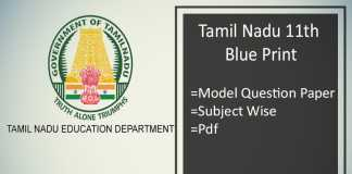 Tamilnadu 11th Blueprint - TN Plus One Model Question Paper