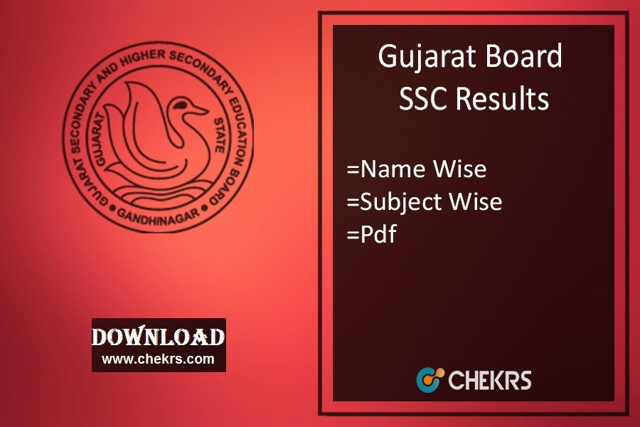 GSEB 10th Result - Gujarat Board SSC Results Name Wise