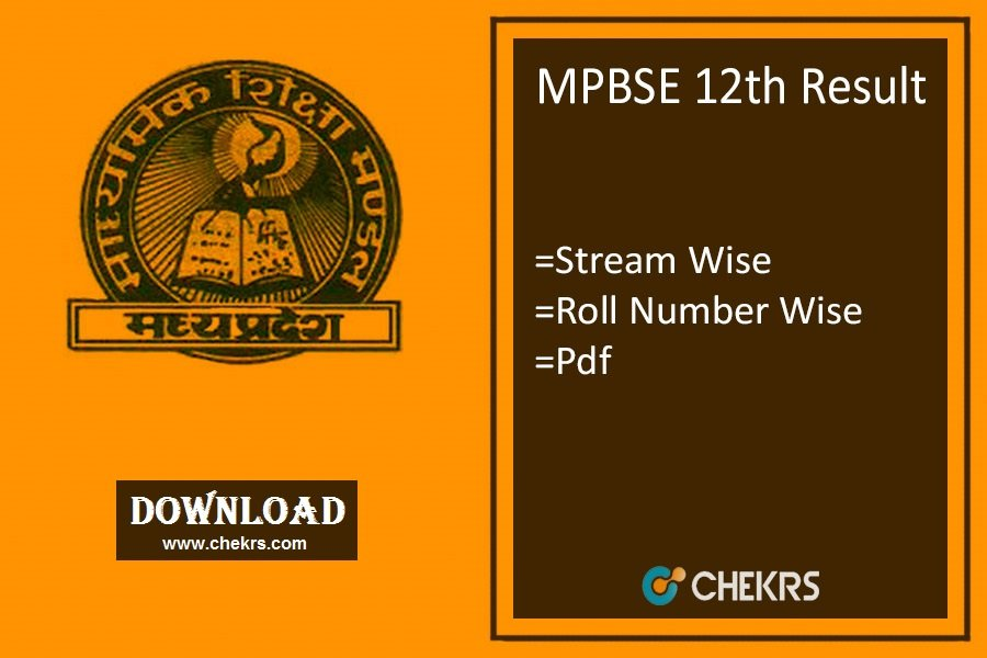 MPBSE 12th Result - MP Board Arts, Science, Commerce Results