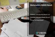 Maharashtra NMMS Result, Merit List, Selection List
