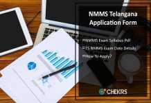 NMMS Telangana Application Form, Syllabus, Exam Date