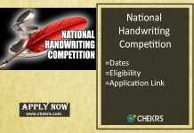 National Handwriting Competition - Dates, Contest Winners