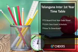 Telangana Inter 1st Year Time Table- TS Board First Year Date Sheet