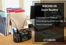 WBCHSE HS Exam Routine- WB Board 12th Exam Schedule