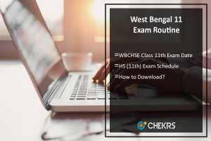 West Bengal 11 Exam Routine- WBCHSE Class 11th Exam Date