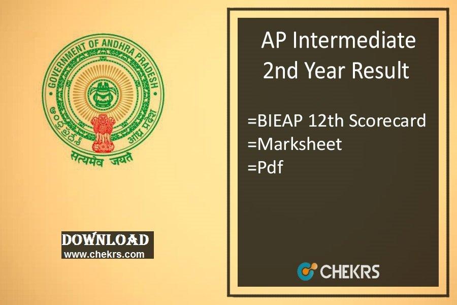 AP Intermediate Result - BIEAP Inter (12th) 2nd Year Results