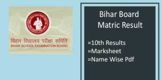Bihar Board Matric Result - BSEB 10th Results, Topper, Marksheet