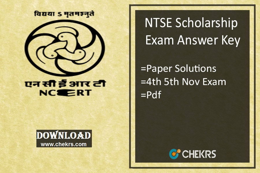 NTSE Answer Key - Stage 1 2018 Answer Sheet, 4th & 5th Nov Exam