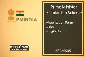 PM Scholarship Scheme, Application Form, Date, Selection Process