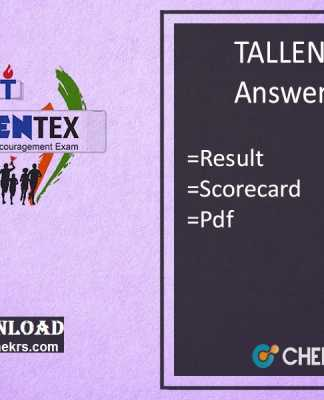 TALLENTEX Answer Key- Allen 15th Oct Tallentex Result, Scorecard