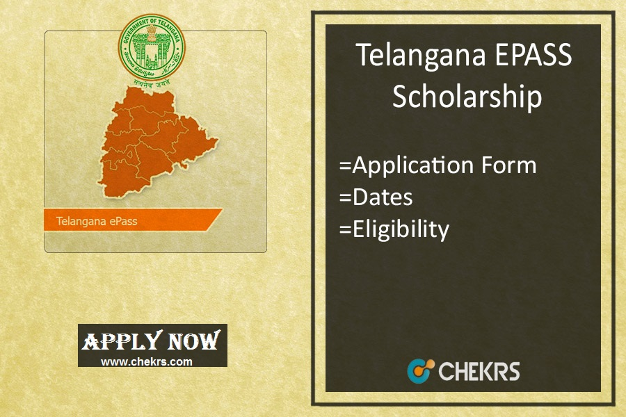 Telangana EPASS Scholarship , Fresh/ Renewal Application, Status