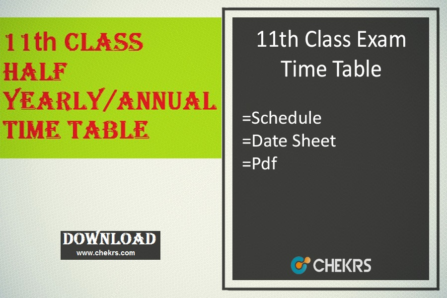 11th class time table