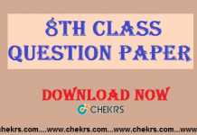 8th class question paper