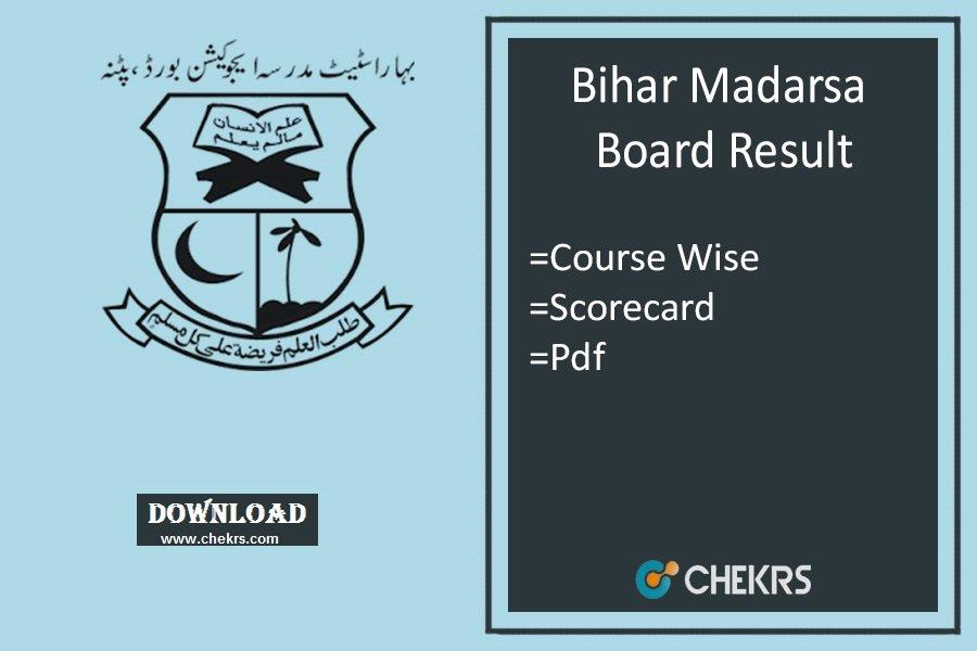 Bihar Madarsa Board Result Course Wise