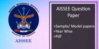 aissee question papers