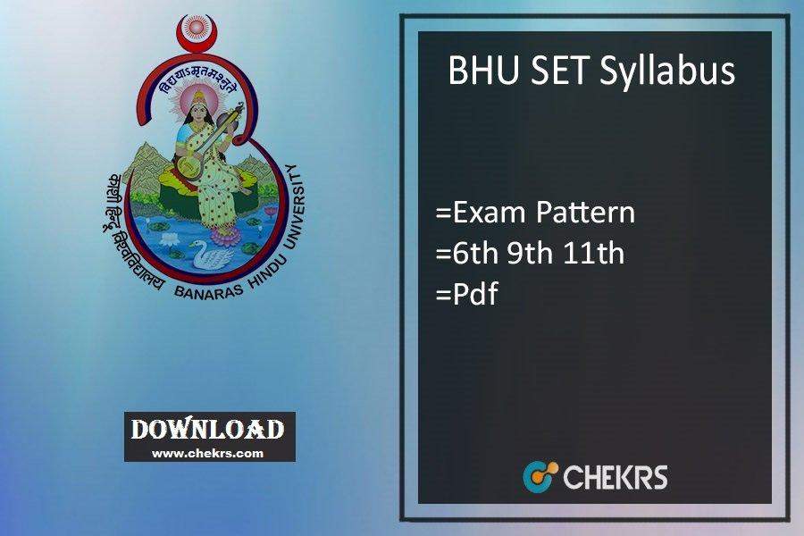 bhu set syllabus