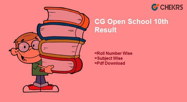 cg open school 10th result