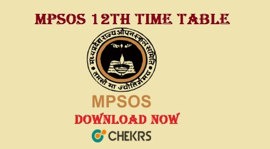 mpsos 12th time table