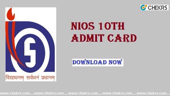 nios 10th admit card
